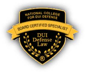 National College for DUI Defense. Board Certified Specialist. DUI Defense Law.