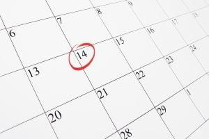 circle on calendar for Utah drug testing date